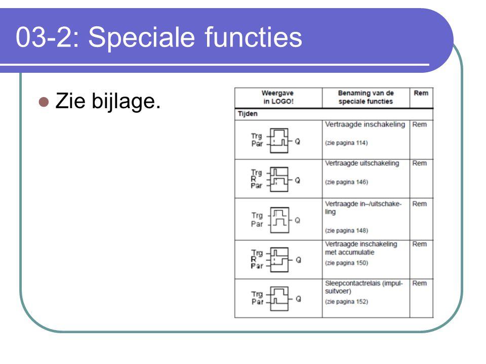 03-2: Speciale functies Zie bijlage.