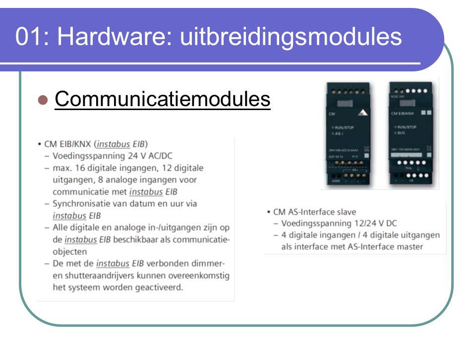 01: Hardware: uitbreidingsmodules