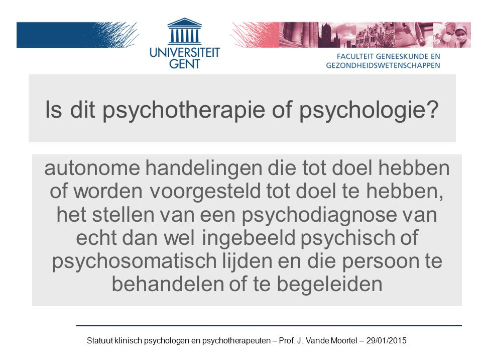 Is dit psychotherapie of psychologie