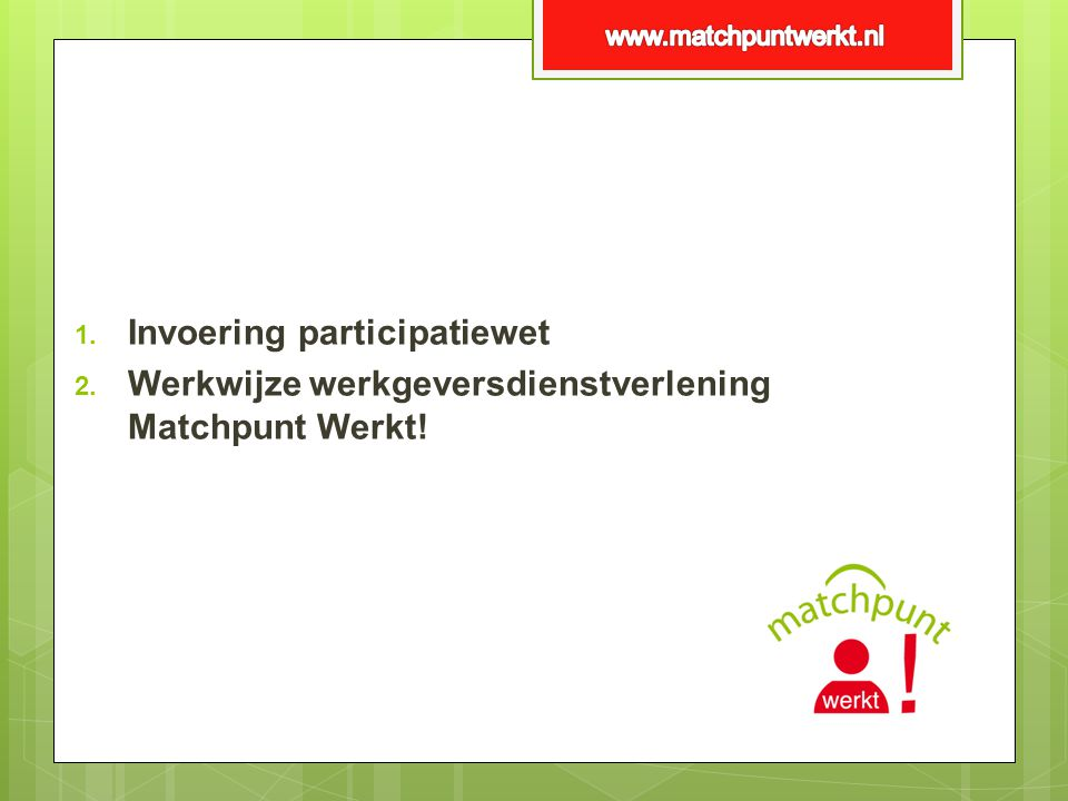 Invoering participatiewet