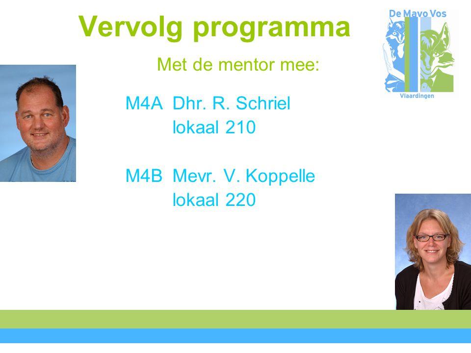 Vervolg programma Met de mentor mee: