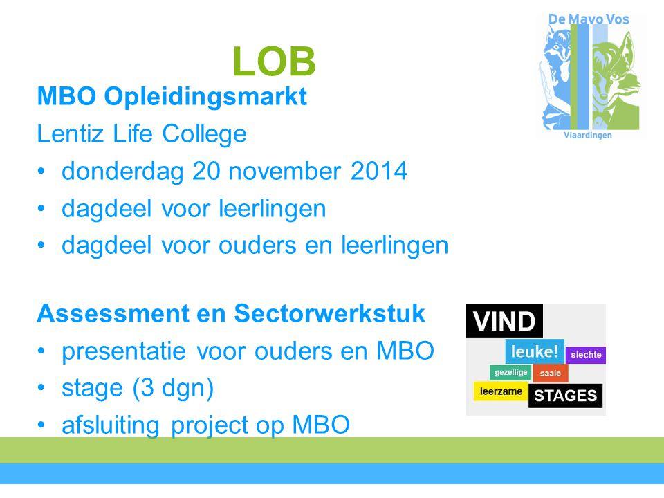 LOB MBO Opleidingsmarkt Lentiz Life College donderdag 20 november 2014