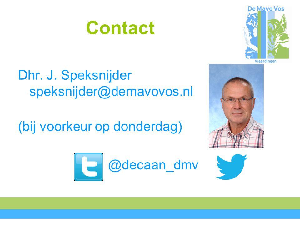 Contact Dhr. J. Speksnijder speksnijder@demavovos.nl