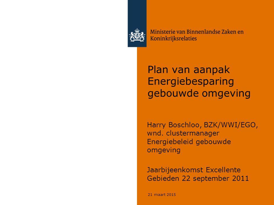 Plan van aanpak Energiebesparing gebouwde omgeving