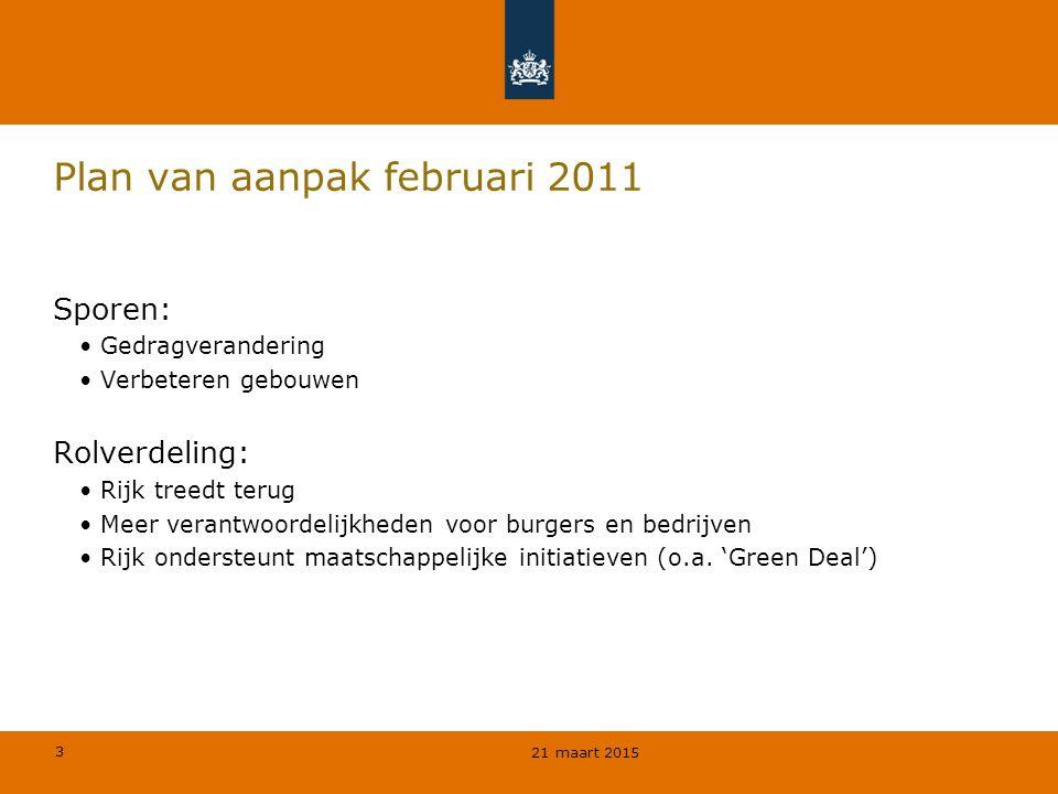 Plan van aanpak februari 2011