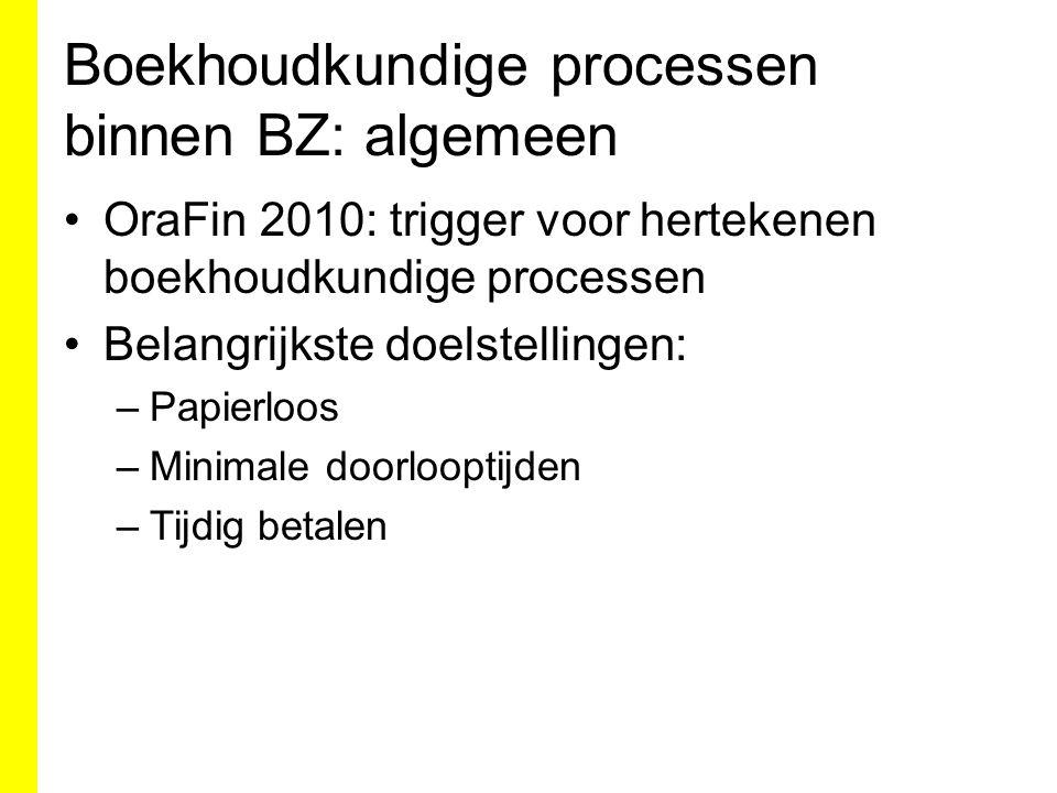Boekhoudkundige processen binnen BZ: algemeen