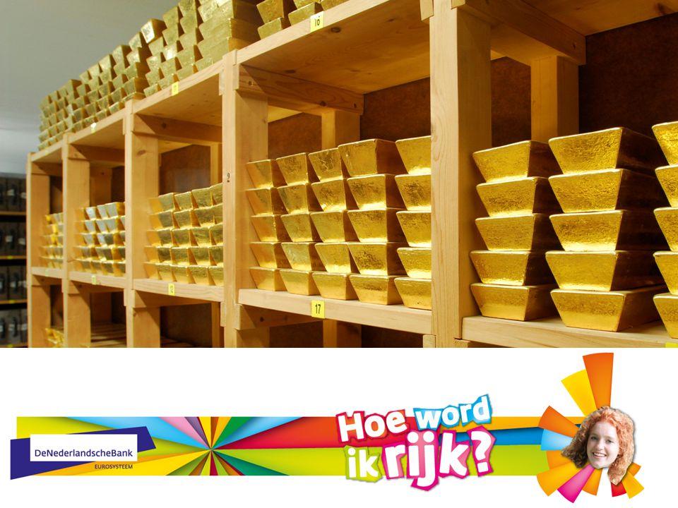 Behalve biljetten beheert DNB ook goud in de kluis