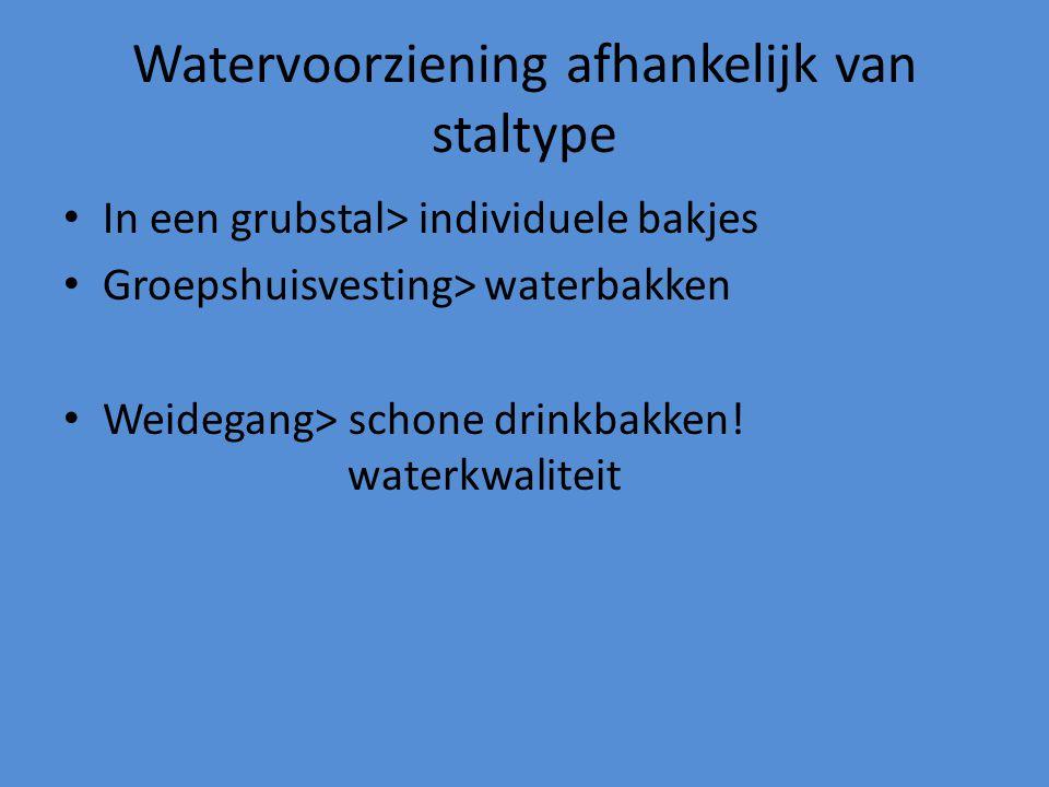 Watervoorziening afhankelijk van staltype