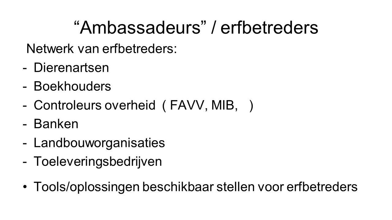 Ambassadeurs / erfbetreders