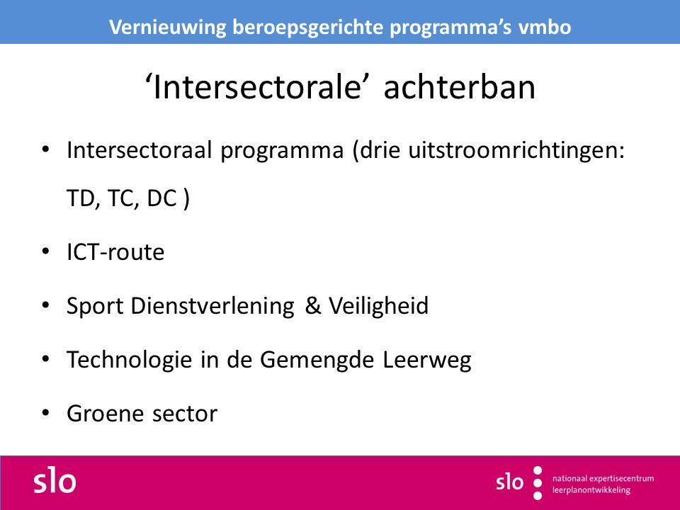 'Intersectorale' achterban