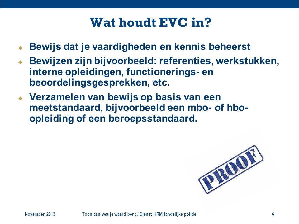 Wat houdt EVC in Bewijs dat je vaardigheden en kennis beheerst
