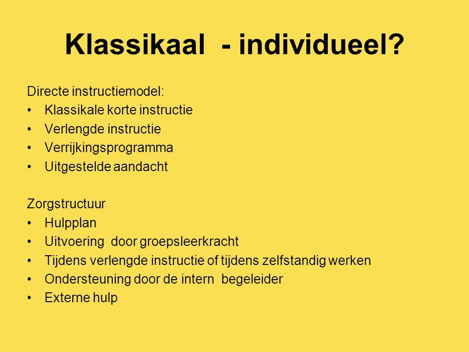Klassikaal - individueel