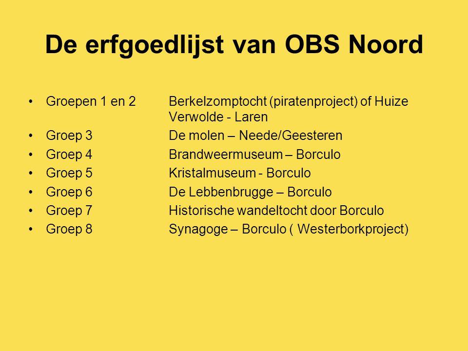 De erfgoedlijst van OBS Noord