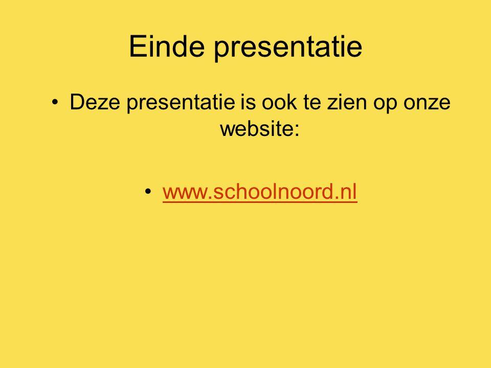Deze presentatie is ook te zien op onze website: