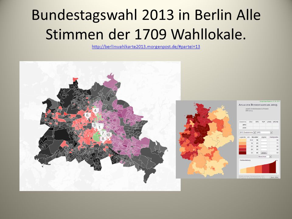 Bundestagswahl 2013 in Berlin Alle Stimmen der 1709 Wahllokale