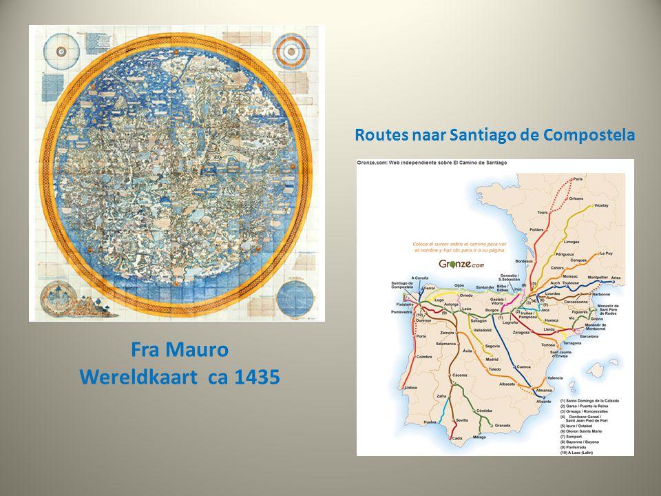 Routes naar Santiago de Compostela