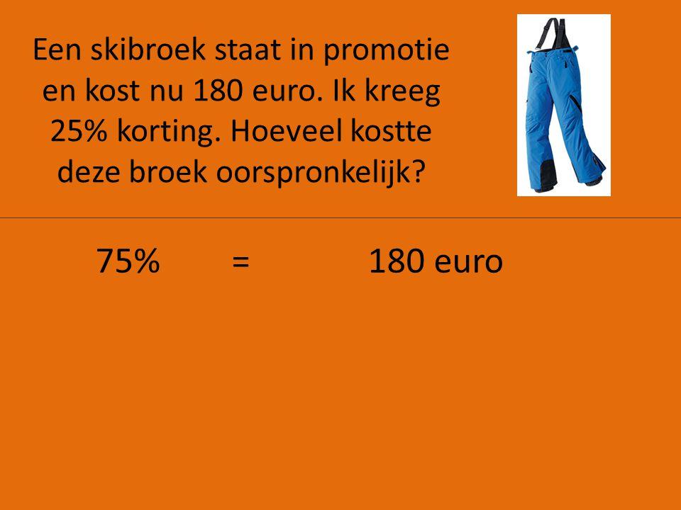 Een skibroek staat in promotie en kost nu 180 euro