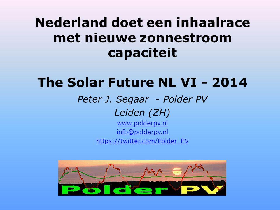 Nederland doet een inhaalrace met nieuwe zonnestroom capaciteit The Solar Future NL VI - 2014