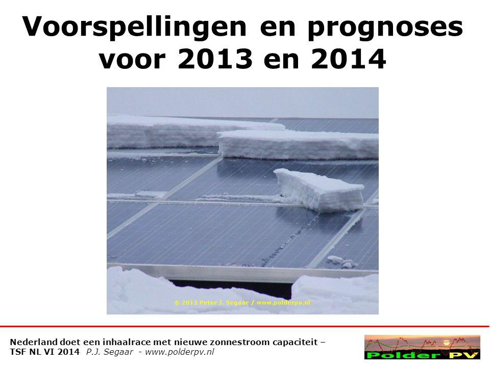 Voorspellingen en prognoses voor 2013 en 2014