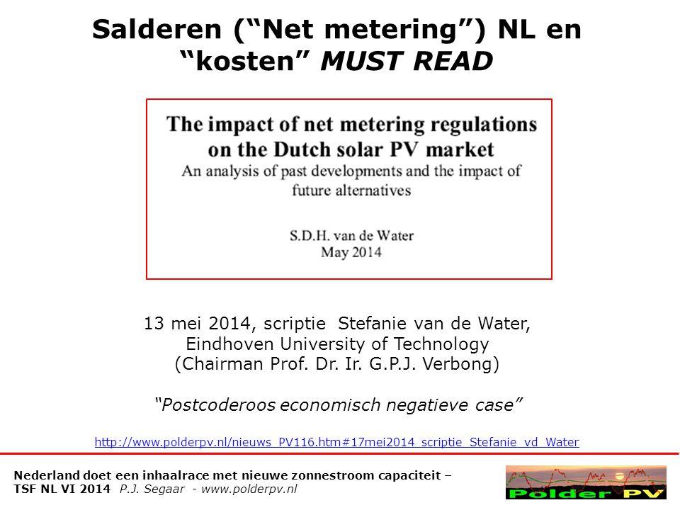 Salderen ( Net metering ) NL en kosten MUST READ