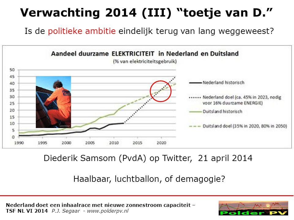 Verwachting 2014 (III) toetje van D.