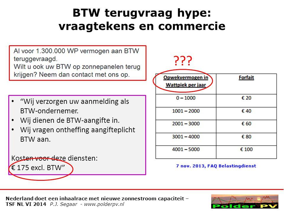BTW terugvraag hype: vraagtekens en commercie