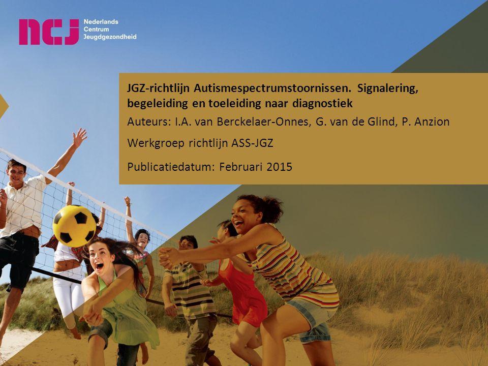 JGZ-richtlijn Autismespectrumstoornissen