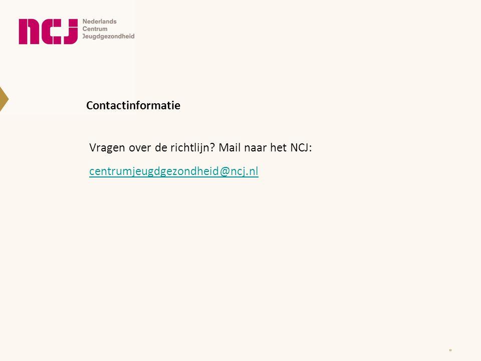 Vragen over de richtlijn Mail naar het NCJ: