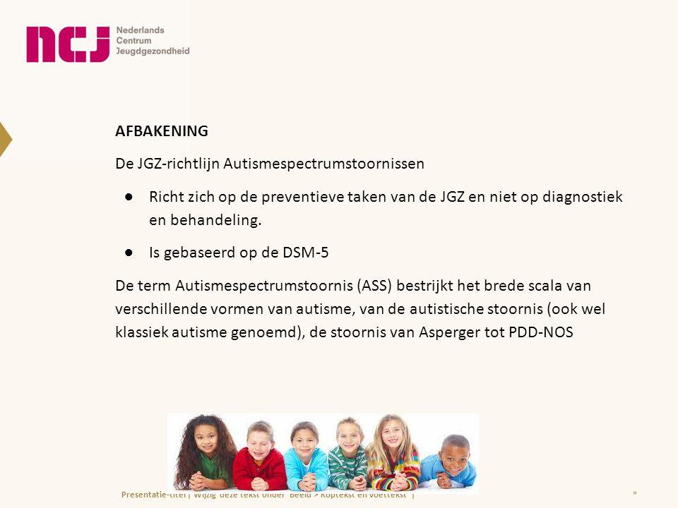 De JGZ-richtlijn Autismespectrumstoornissen