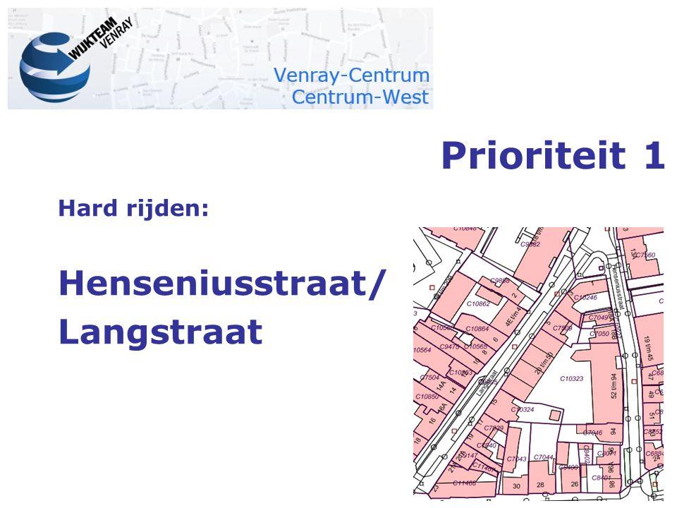 Hard rijden: Henseniusstraat/ Langstraat