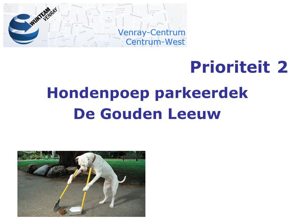 Hondenpoep parkeerdek De Gouden Leeuw