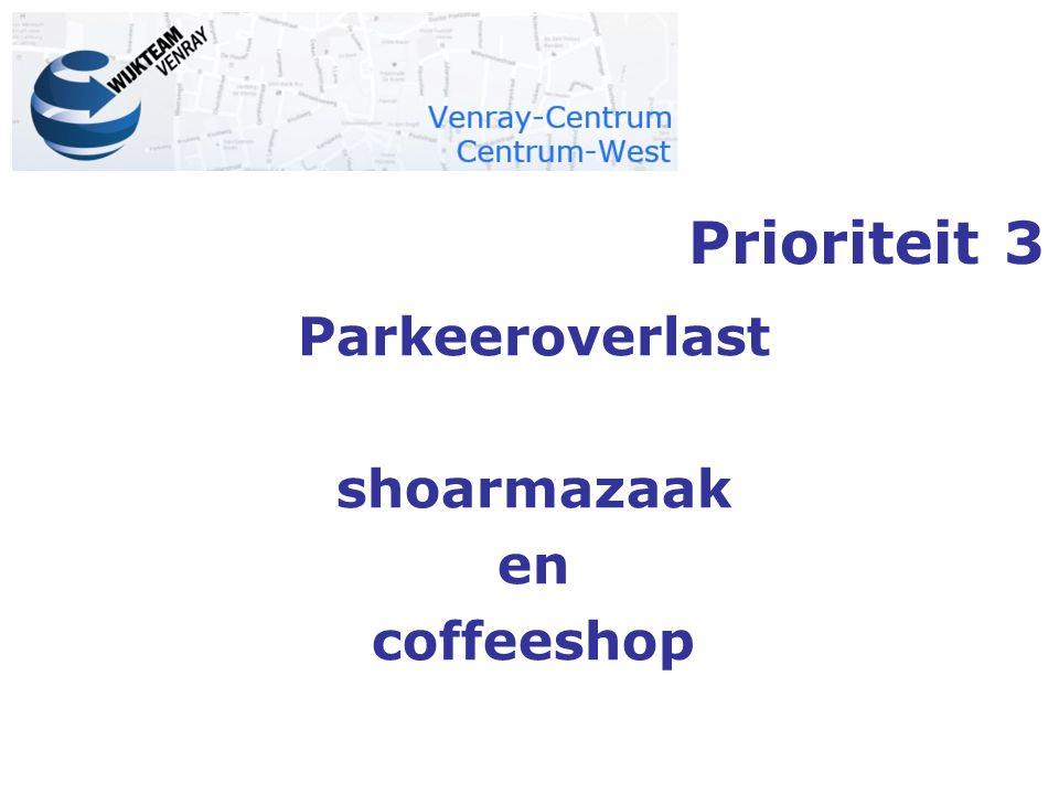 Parkeeroverlast shoarmazaak en coffeeshop