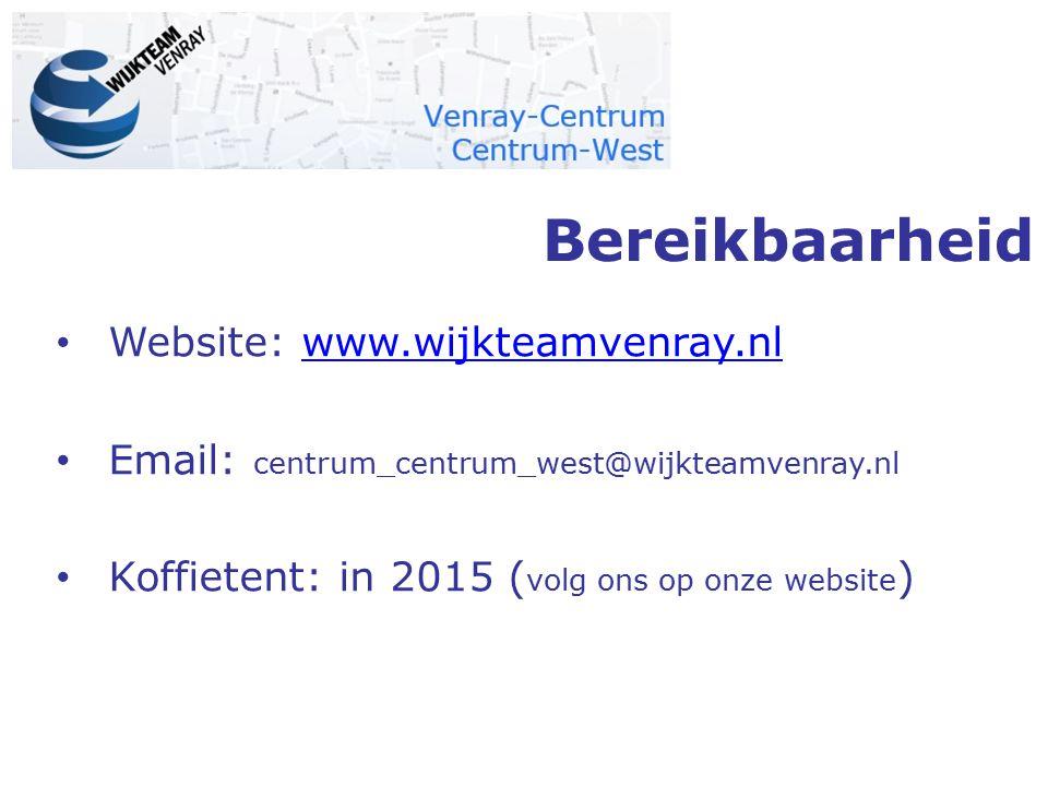 Bereikbaarheid Website: www.wijkteamvenray.nl