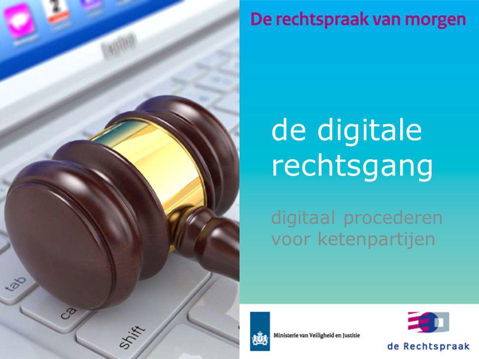 de digitale rechtsgang