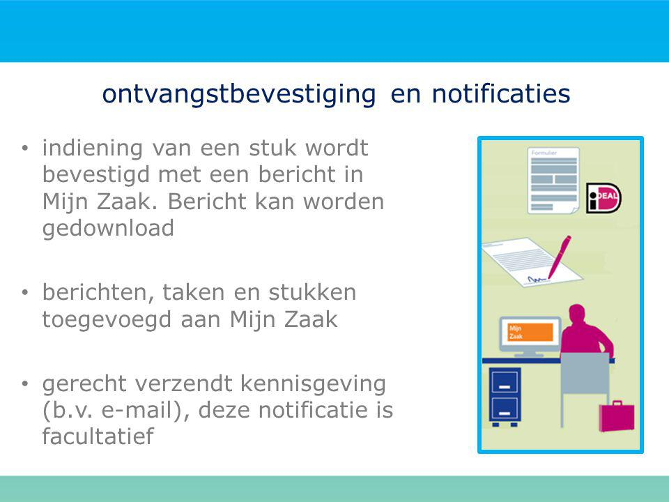 ontvangstbevestiging en notificaties