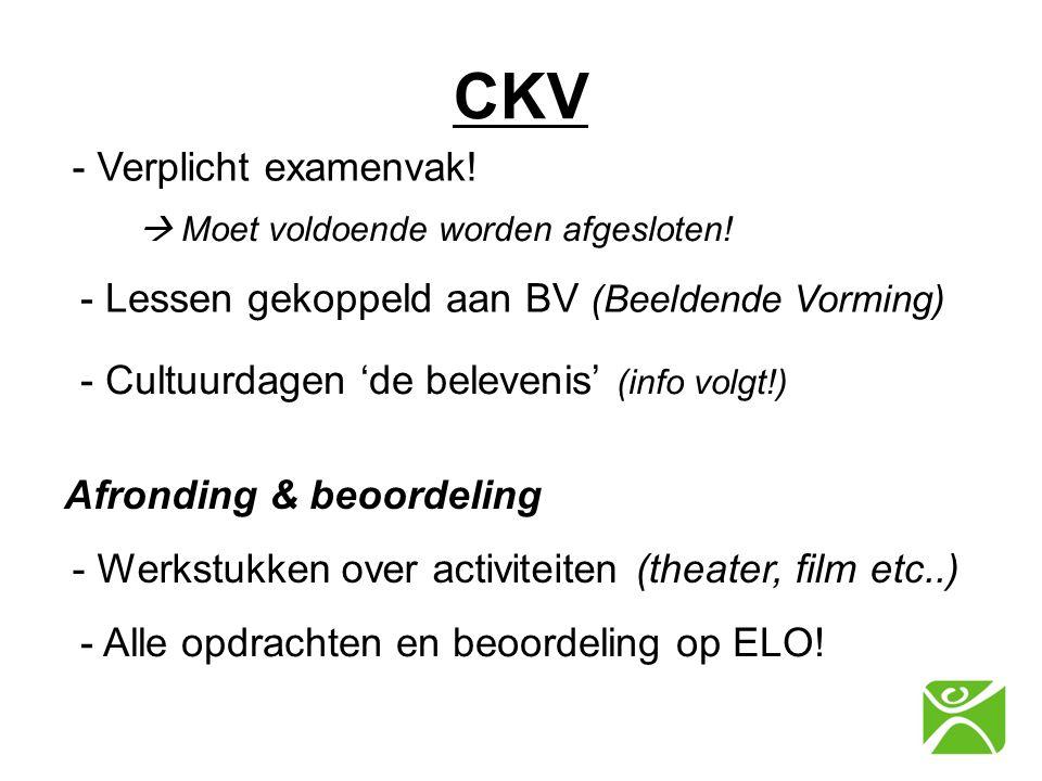 CKV - Verplicht examenvak!