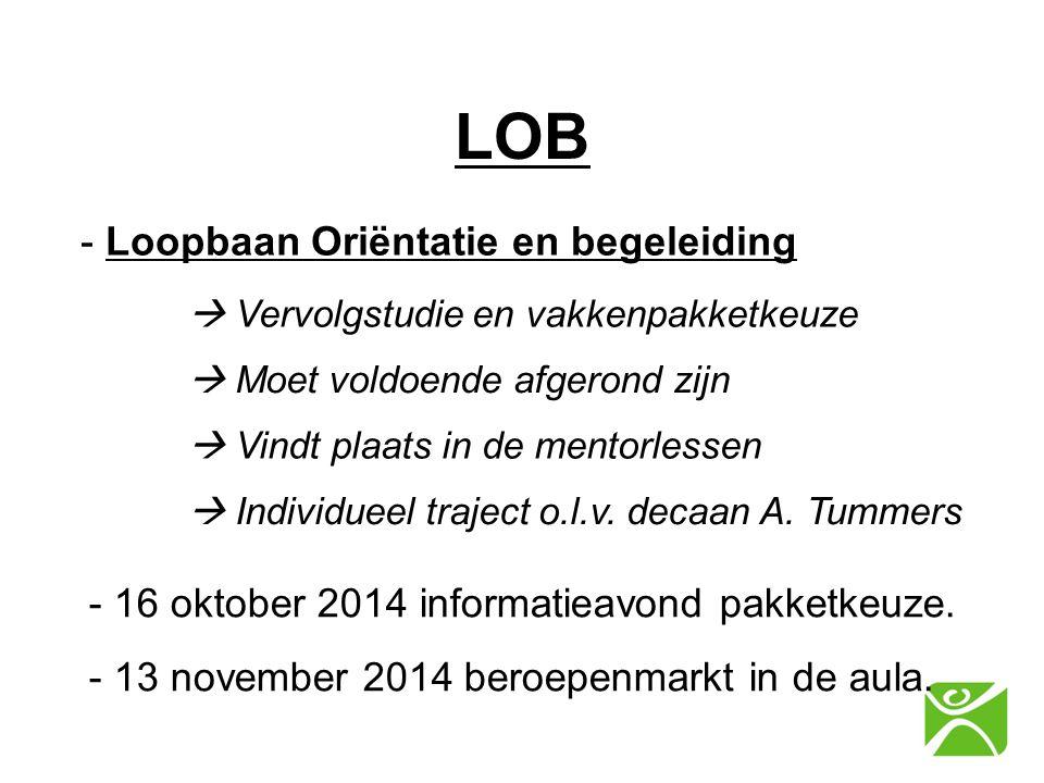 LOB - Loopbaan Oriëntatie en begeleiding