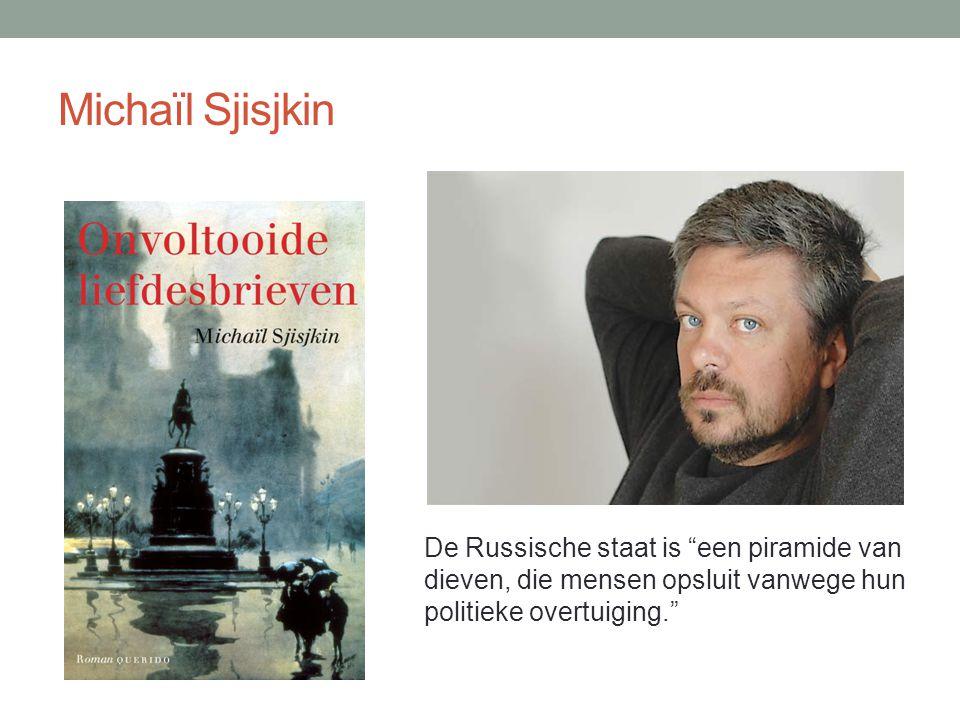Michaïl Sjisjkin De Russische staat is een piramide van dieven, die mensen opsluit vanwege hun politieke overtuiging.