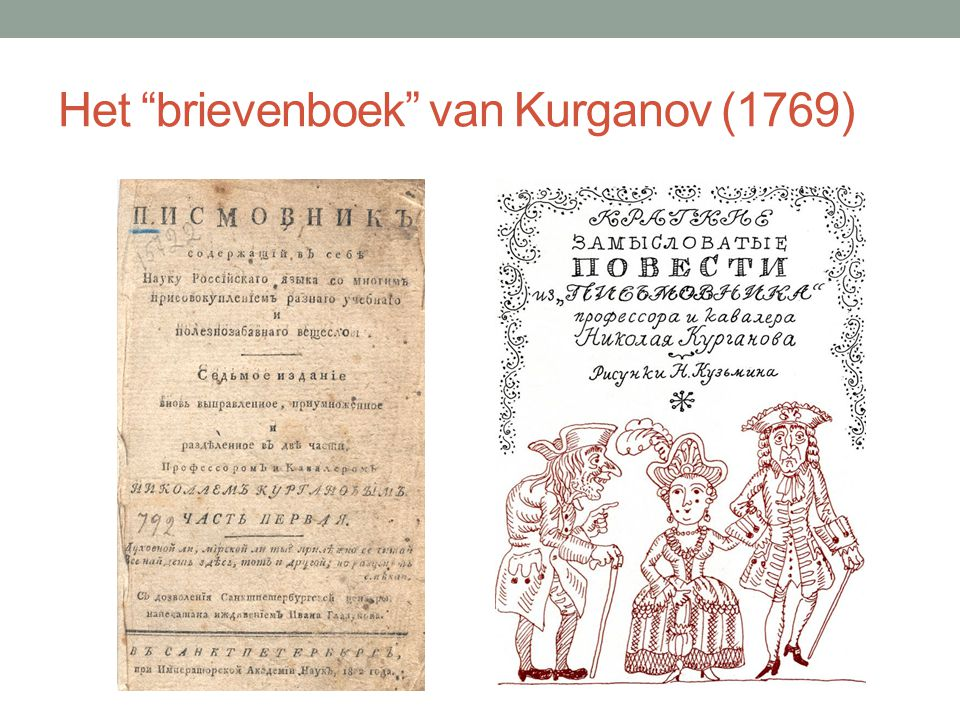 Het brievenboek van Kurganov (1769)