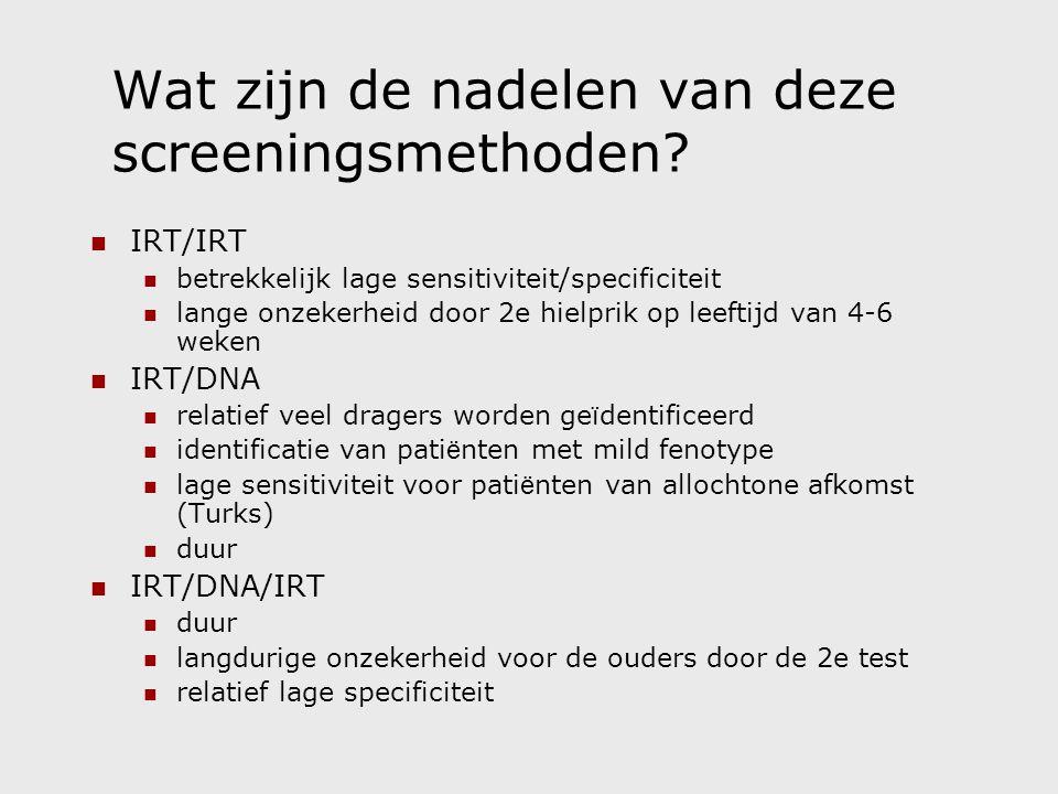 Wat zijn de nadelen van deze screeningsmethoden