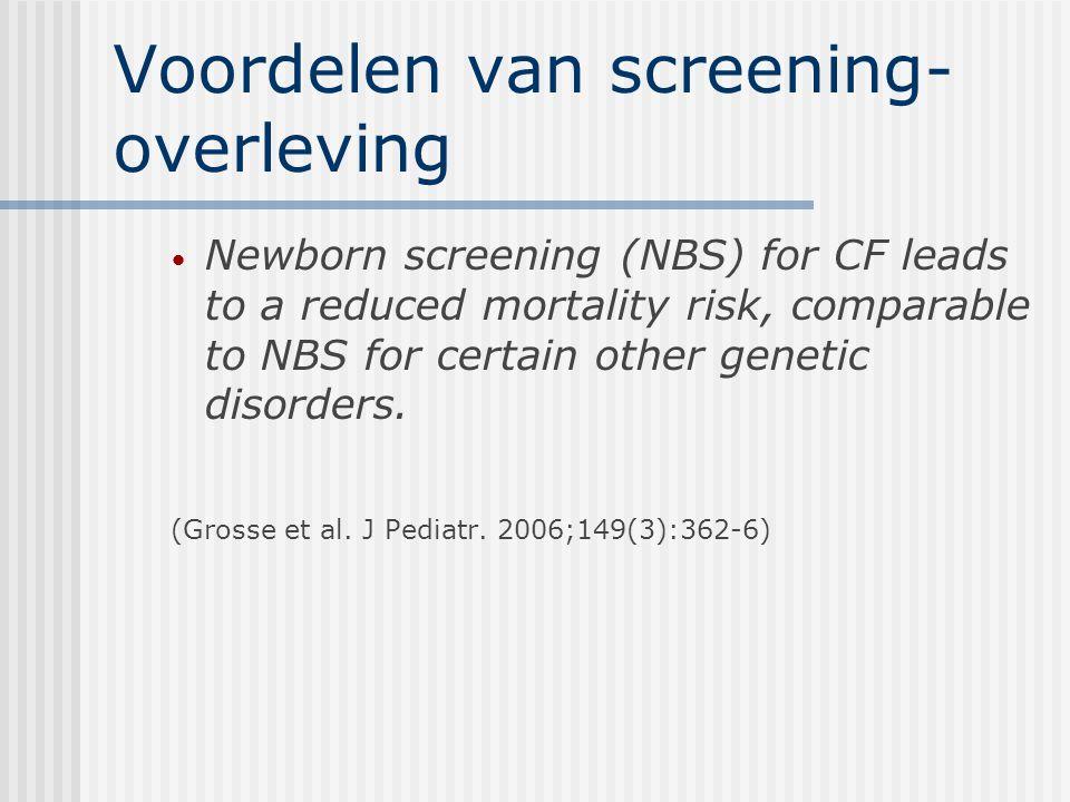 Voordelen van screening-overleving