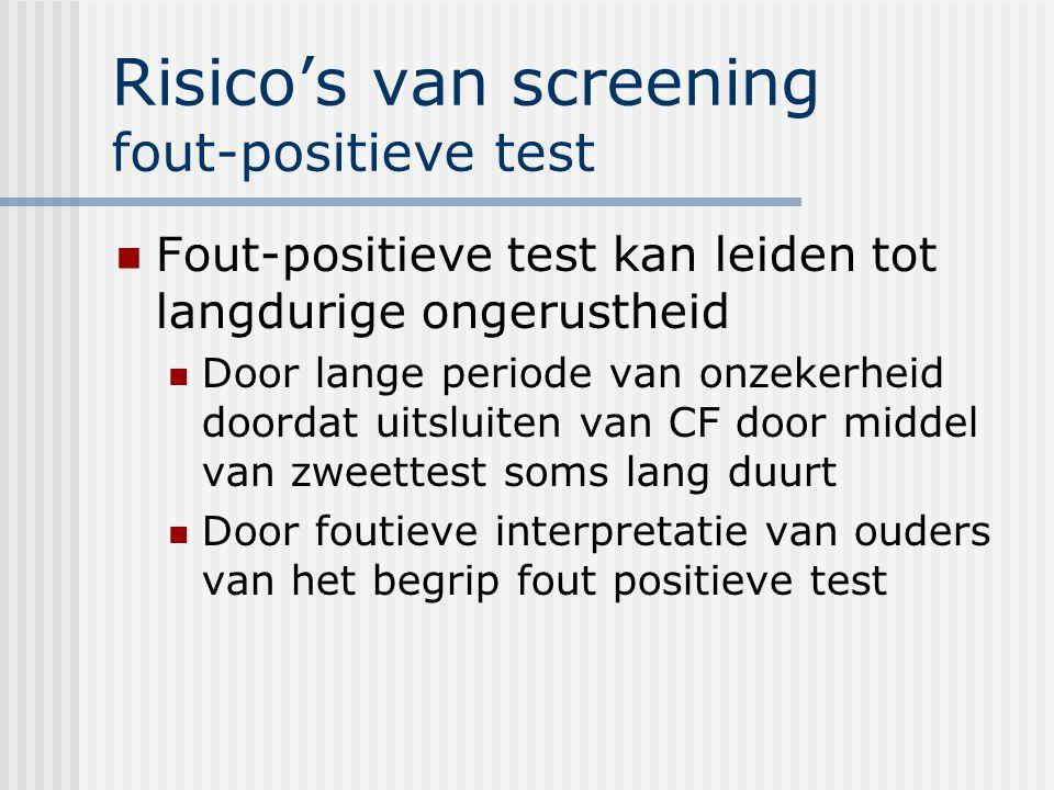 Risico's van screening fout-positieve test