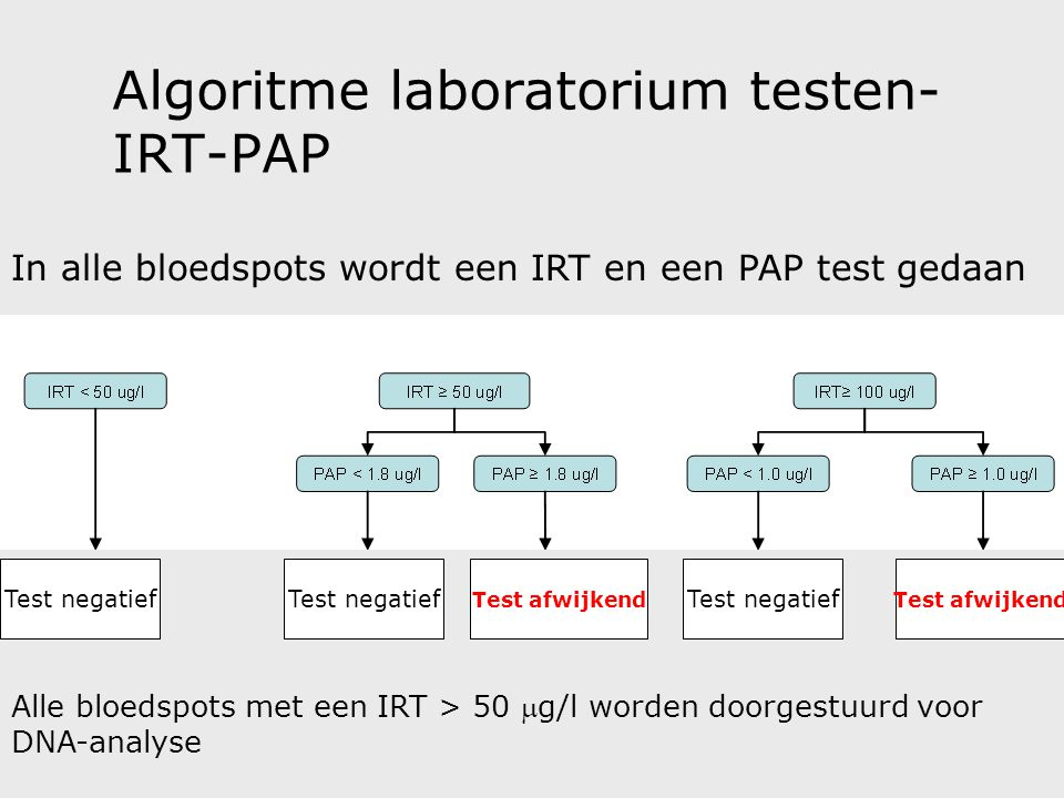 Algoritme laboratorium testen- IRT-PAP