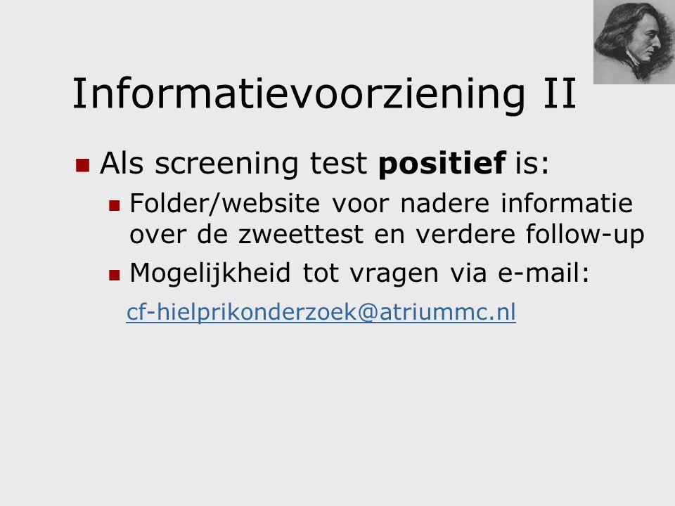 Informatievoorziening II