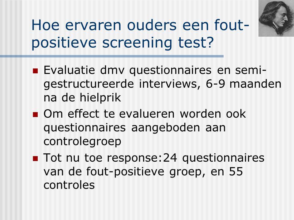 Hoe ervaren ouders een fout-positieve screening test