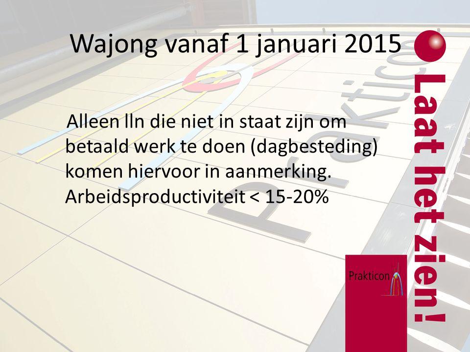 Wajong vanaf 1 januari 2015