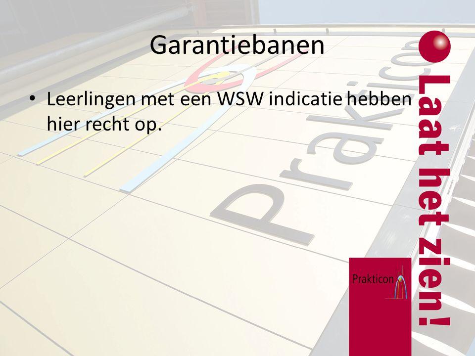 Garantiebanen Leerlingen met een WSW indicatie hebben hier recht op.