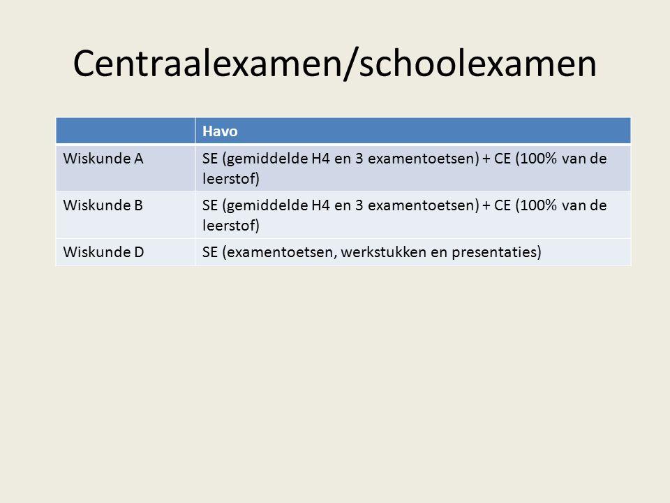 Centraalexamen/schoolexamen