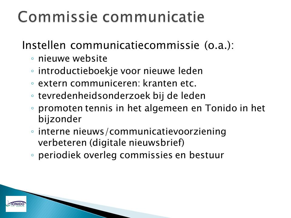 Commissie communicatie