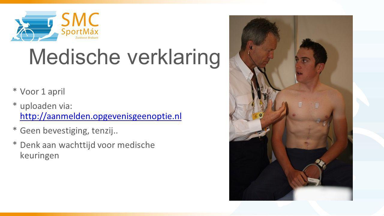 Medische verklaring Voor 1 april